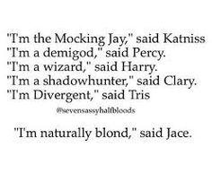 Mortal Instruments meets Divergent meets The Hunger Games